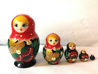 "New Hand Painted 5/"" Russian Nesting Doll Matryoshka 10 Pc Set Made In Russia"