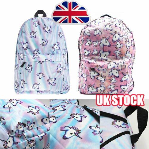 Unicorn Bags Fantasy Rucksack Backpack Student Schoolbag Girls Travel College SQ