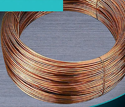 1m 99.5% Pure Copper Wire Round Solid Uncoated Diameter 0.5mm 1mm to 8mm #E3-B1