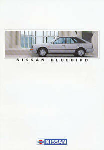 Nissan-Bluebird-Prospekt-1-88-brochure-1988-Autoprospekt-Broschuere-brosjyre-Auto