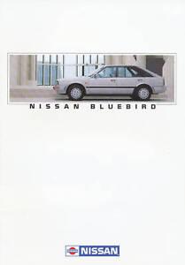 Auto & Motorrad: Teile Sammeln & Seltenes Nissan Bluebird Prospekt 1/88 Brochure 1988 Autoprospekt Broschüre Brosjyre Auto