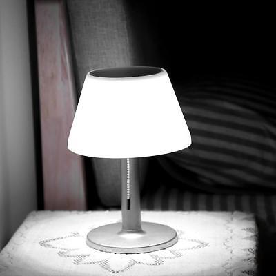 LED Solar Panel Powered Light Desk Table Lamp Waterproof ...