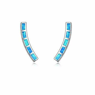 Hypoallergenic Cubic Zirconia Post Jewelry for Women Teen Girl Crawler Earrings 925 Sterling Silver Ear Cuffs Climber Curved Bar Studs