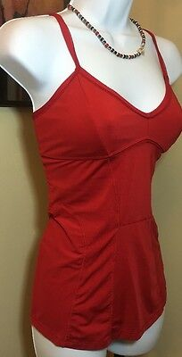 Stella McCartney Adidas Red SEXY Cami Athletic adjustable Top New WOT SIZE M