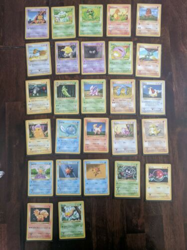 1999 Shadowless Base Set Pokemon Uncommon and Common Cards NM/Mint Excellent