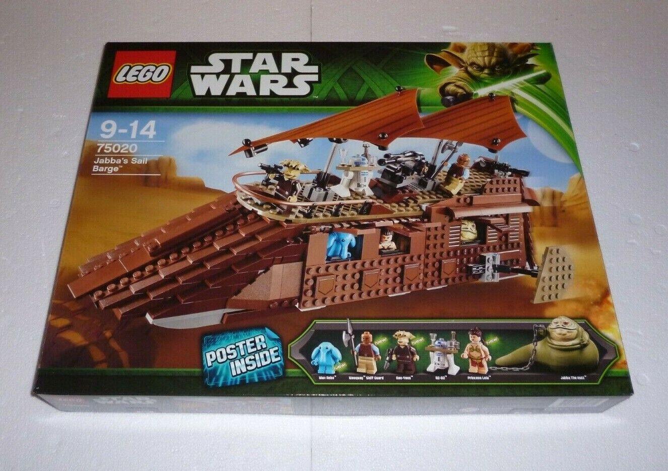 Lego Star Wars Jabba's Sail Barge (75020) nuevo New, embalaje original