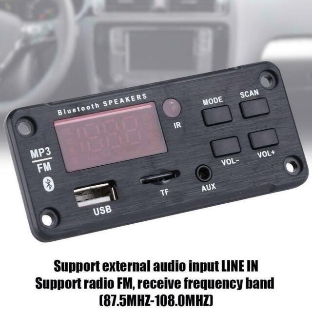 Wireless Bluetooth 5.0 MP3 WMA Decoder Board Audio Module USB/ TF / FM Radio