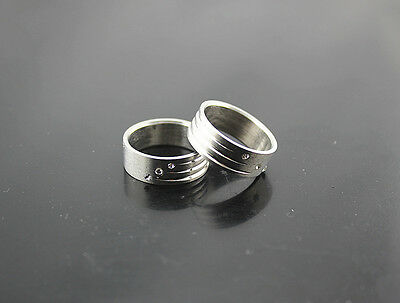 5pcs Wholesale Jewelry Lots Stainless Steel Ring Clear Rhinestone Men's Rings