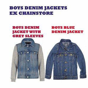 BOYS-DENIM-JACKETS-EX-CHAINSTORE-STYLISH-FASHION-AND-VERSATILE