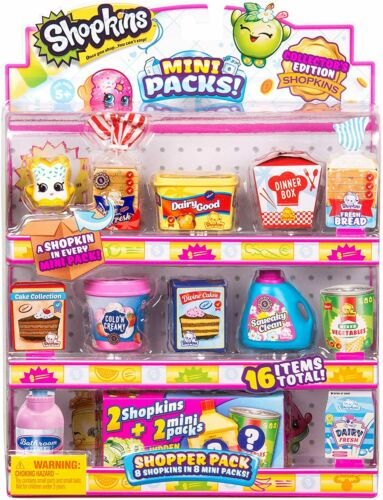 Shopkins MINI Pack Shopper 16 Pack-Collector /'s Edition Shopkins