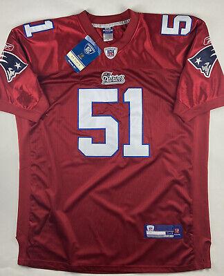 Throwback New England Patriots Jarrod Mayo Red NFL Jersey NEW Size 54 XXL XXXL