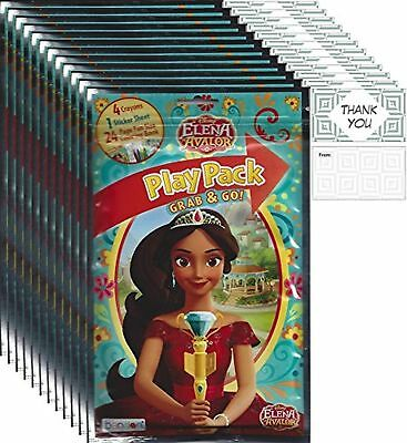 NEW Bundle of 12 Disney Elena of Avalor Grab /& Go Play Packs Party Favors