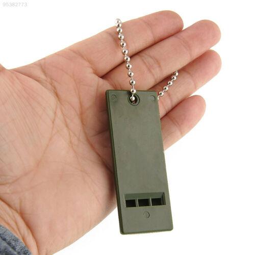 0E5D Outdoor Survival Loud Decibel Distress Emergency Whistle Compact Slim Gear