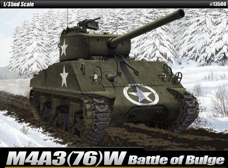 1 35 M4A3(76)W Battle of Bulge Academy Hobby kits