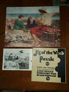1930-039-s-Vintage-Jig-of-the-Week-Puzzle-22-Boyhood-Sir-Walter-Raleigh-COMPLETE