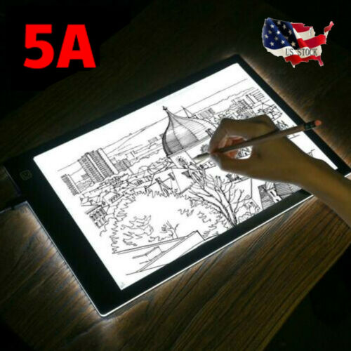 LED Copy Board Painting Tracing Board Pad Panel Drawing Tablet Adjust-lighting