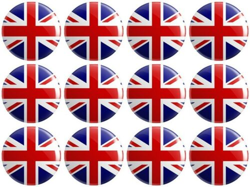 12 x United Kingdom Flag BUTTON PIN BADGES 25mm 1 INCH Great Britain /& NI