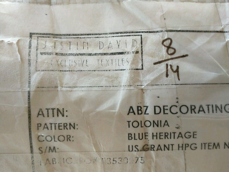 Luna Textiles Hatch Helm Wool Blend Blue Upholstery Fabric Free Ship! DB428