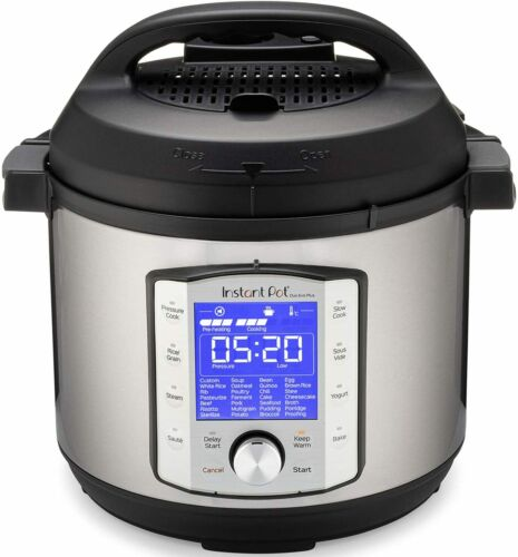 Instant Pot Duo Evo Plus 9 in 1 Pressure Cooker w// 48 One Touch Programs 6 Qt