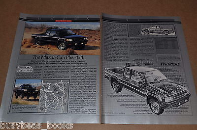 Classic Vintage Advertisement Ad D34 Wall 1998 Mazda B-Series 4x4 Cab Plus 4