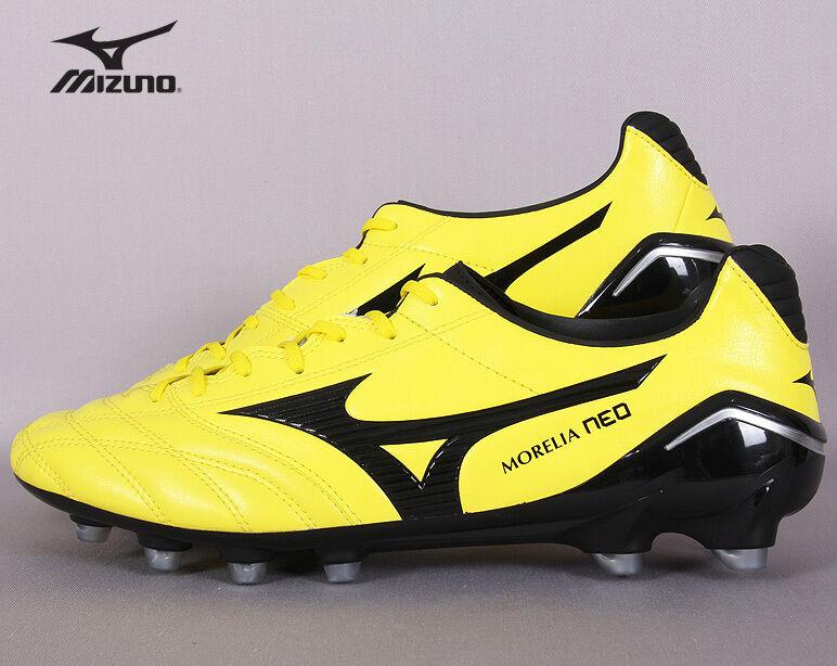 Mizuno Morelia Neo PS P1GA151494 Soccer Cleats Football schuhe Stiefel Gelb