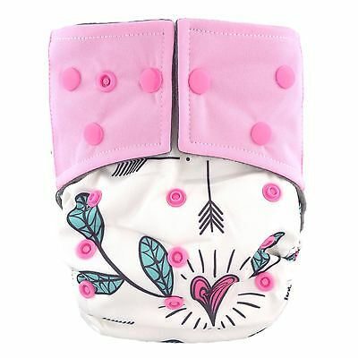 "HappyEndings ""Night, Night""TM Charcoal Bamboo AIO Diaper ""Cupid's Arrow""+ Insert"