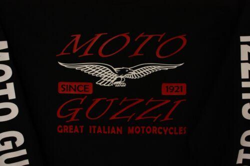 Moto Guzzi SWEATSHIRT  with  ARM LETTERING