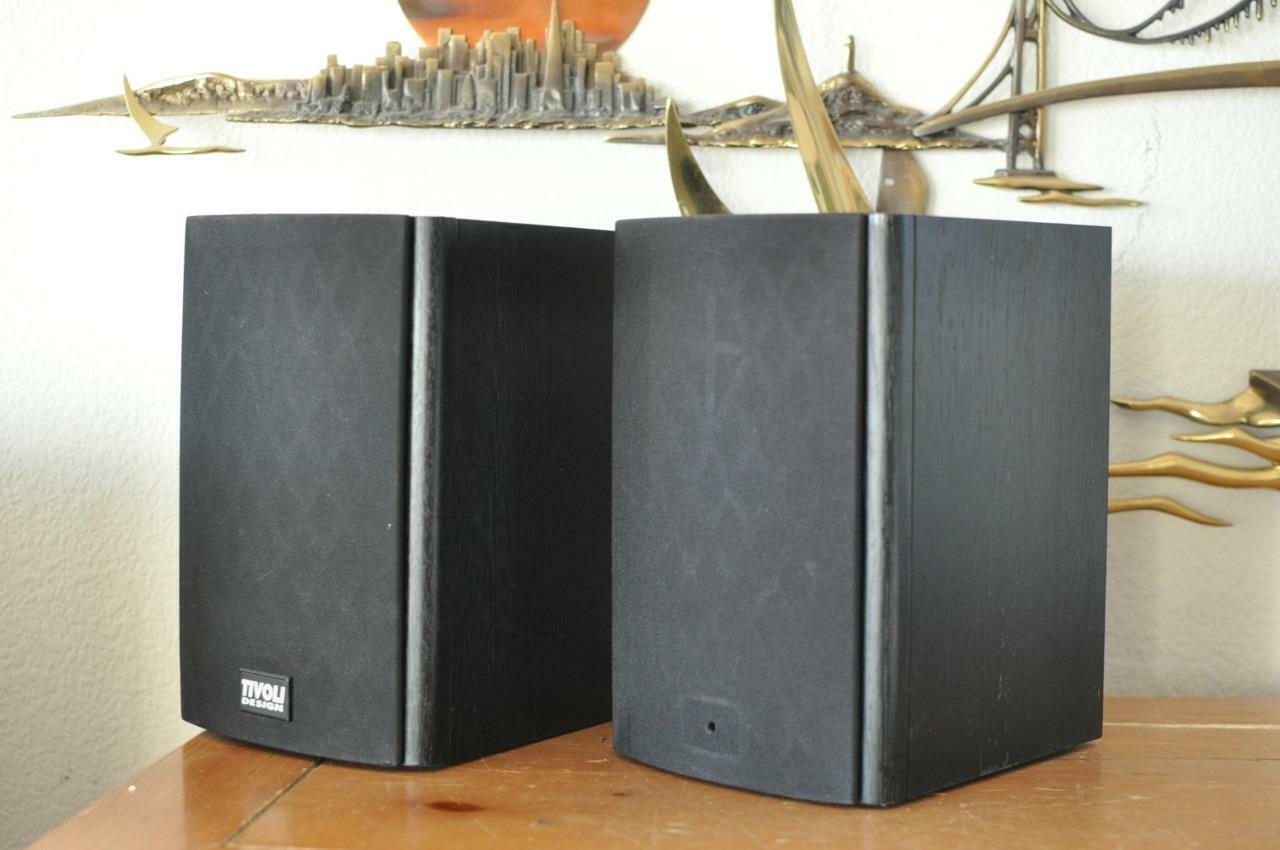 Tivoli Design TDM-1 Main Stereo Speakers; Pair  RARE  STRIKING SOUND & LOOKS