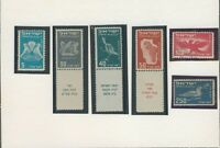 ISRAEL 1950 FIRST AIR MAIL BIRDS STAMPS