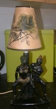 1950/60s PLASTER BLACK AFRICAN LADY &MAN like BARSONY LAMP by PROGRESSIVE ART CO