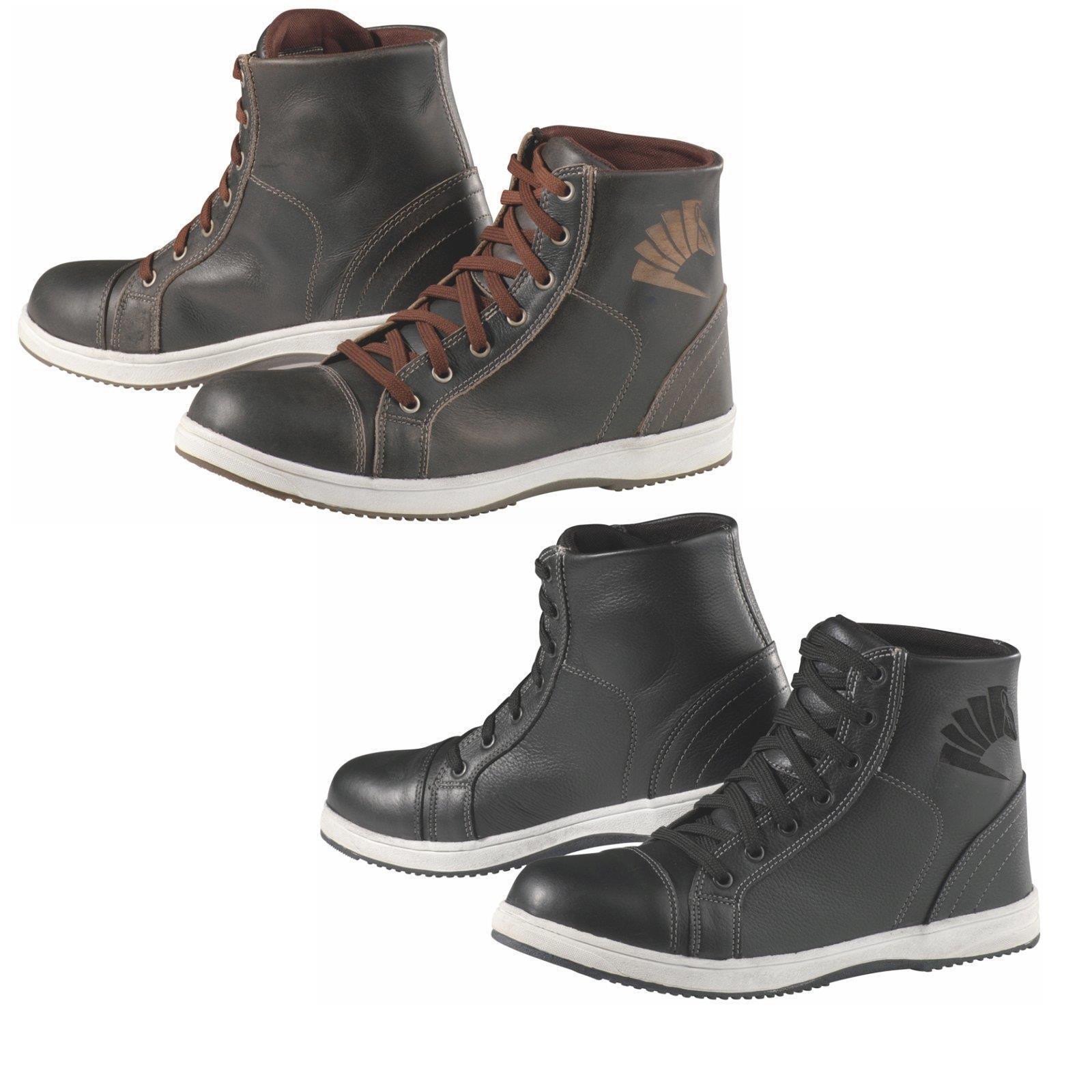 Los últimos zapatos de descuento para hombres y mujeres Germot motocicleta botas fashion vintage zapatos de piel tobillo protección gonartrosis
