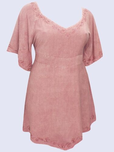 Eaonplus NEW VINTAGE ROSE Medieval Embroidered Tunic Top SIZES UK 18//20 to 30//32