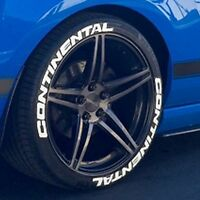 Permanent Tire Letters- Continental - 1.50 For 14 15 16 Wheels (4 Decal Kit)