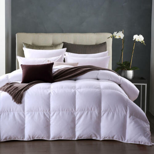 Elliz 600 FP White Down Comforter 300 TC 100/% Cotton Level 1 Light Weight