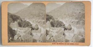 Acque-Buono Panorama Francia Foto J.Andrieu Stereo Vintage Albumina c1868