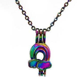 C654 colors rainbow pearl cage locket pendant luck gift ebay image is loading c654 colors rainbow pearl cage locket pendant luck aloadofball Choice Image