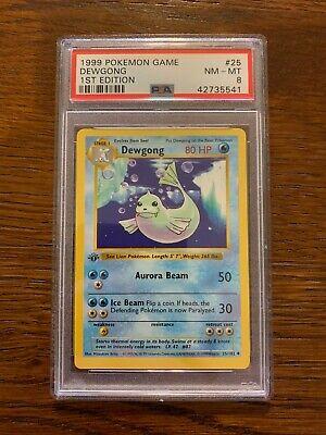 Dewgong 25//102 Base Set 1st Edition Shadowless Uncommon Pokemon Card NEAR MINT T