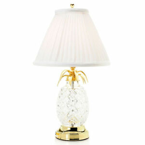 Waterford crystal hospitality 18 pineapple table lamp w pleated image is loading waterford crystal hospitality 18 034 pineapple table lamp aloadofball Image collections
