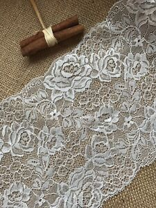Ivory-French-Lace-Wide-Delicate-Rose-6-75-034-17-cm-Bridal-Craft-Trim