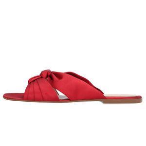 Women-Flat-Heel-Peep-Toe-Satin-Slipper-Sandals-Casual-Beach-Slides-Shoes-Size-UK