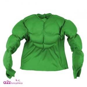 Vert Super Muscle Shirt Super Héros Adulte Ou Enfants Accessoires Costume-afficher Le Titre D'origine Des Biens De Chaque Description Sont Disponibles