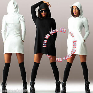 enjoy lowest price huge inventory top-rated newest Details about Sporty Women Hooded Hoody Sweatshirt Bodycon Hoodies Pullover  Tunic Jumper Dress