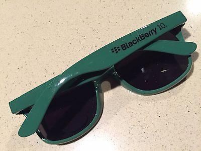"""BlackBerry * SWAG * Promo * Logo /""""BlackBerry 10/"""" Sunglasses HUNTER GREEN RIM"""