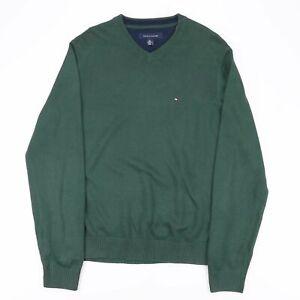 Tommy Hilfiger grün 00s V-Neck Pullover Herren M