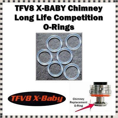 BIG BABY Tank Black Up /& Orange Lwr Orings ORing smok O-Rings 6-TFV8 BEAST