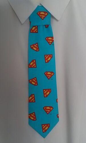 Pre-tied elasticated Handmade Childrens Boys Superman Character Superhero Tie