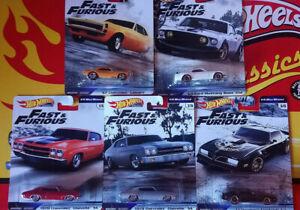 Hot-Wheels-Fast-amp-Furious-1-4-Mile-Muscle-Choise-Choix-lot-ou-a-l-039-unite-N35