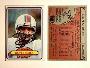 Don-Strock-Signed-1980-Topps-381-Card-Miami-Dolphins-Auto-Autograph