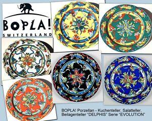 DELPHIS-21cm-Fruehstuecks-Salat-Dessert-Kuchen-Brotteller-BOPLA-Porzellan