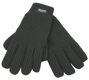 Thinsulate-Fingers-gefuettert-Fingerhandschuhe-Herren-Winterhandschuhe-Strick
